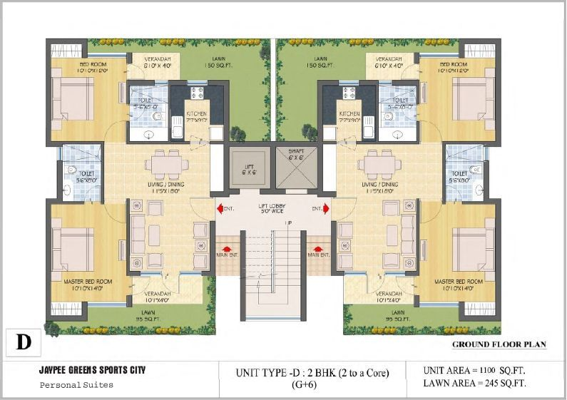 Floor plans jaypee greens kassia sports city for Ground floor house plan