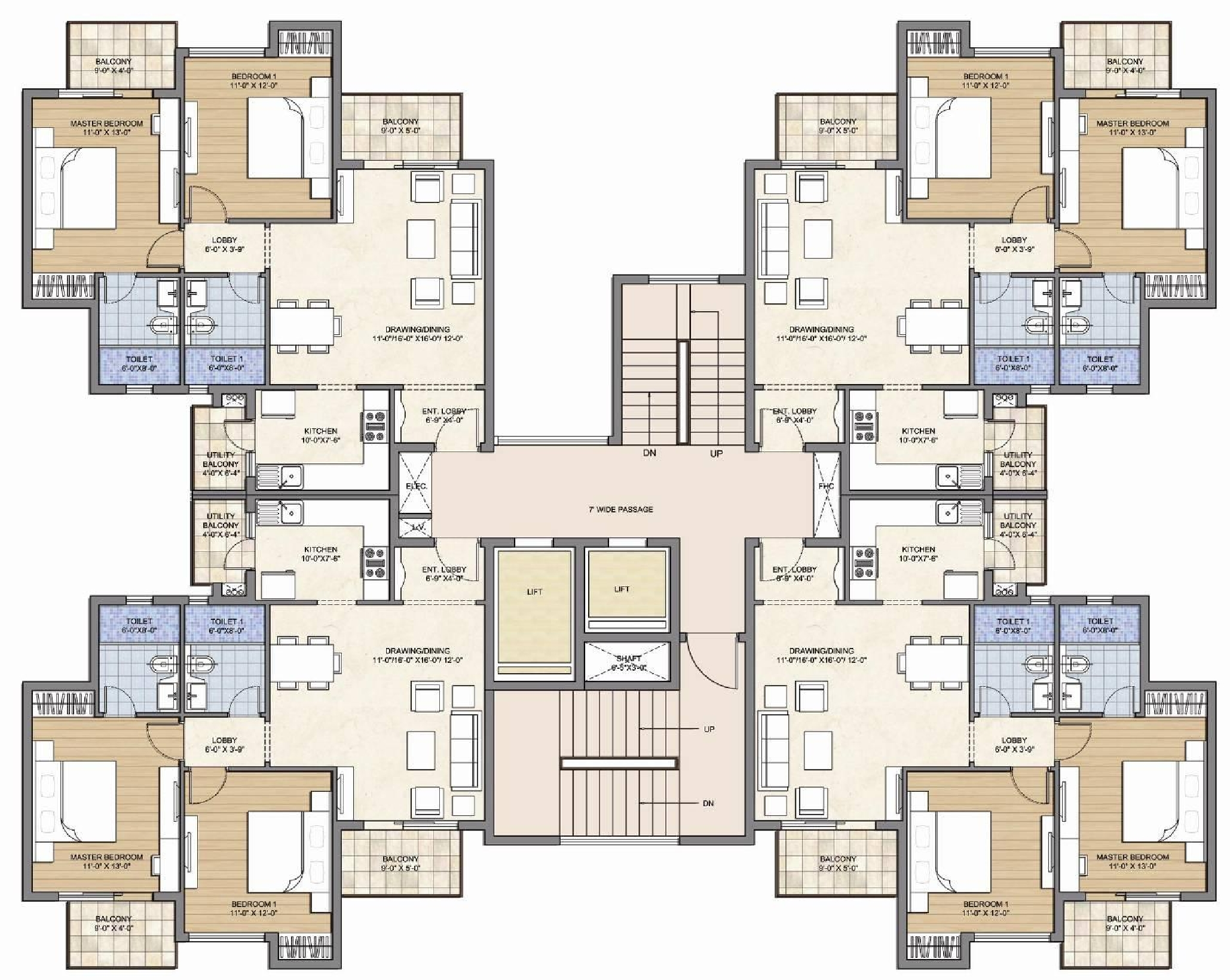 2 bhk plan with elevation floor plans for bungalows joy for Four bhk bungalow plan